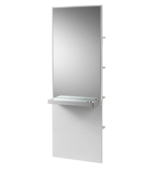 specchio con ripiani parrucchiera andromeda