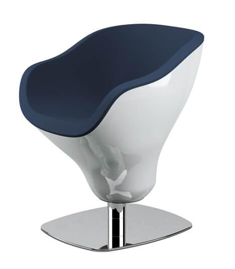 poltrona per parrucchieri moderna CURVE