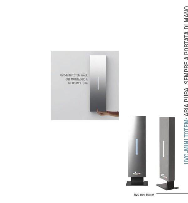 UV-MINI TOTEM sanificatore d'aria per negozi