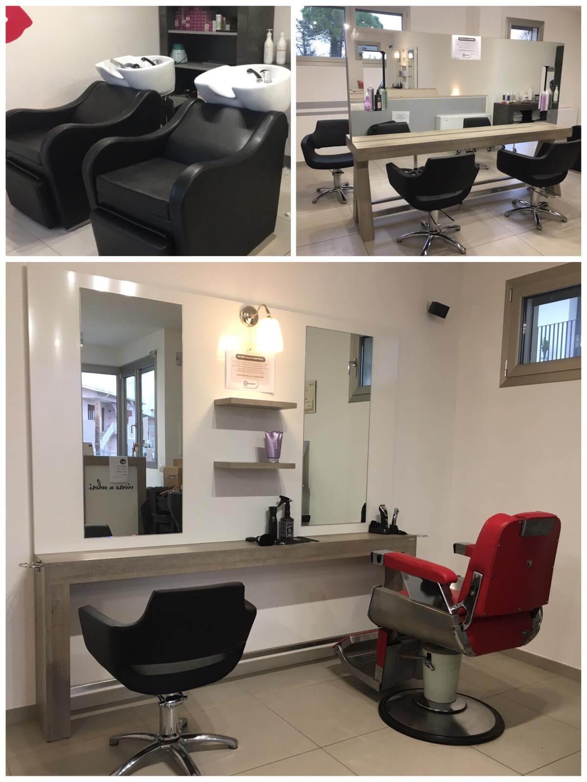Specchio centrale per parrucchieri fab